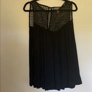 H&M Black Tank Top with Keyhole Cut Out